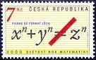 Почтовая марка Чехии 2000 года ко Всемирному году математики